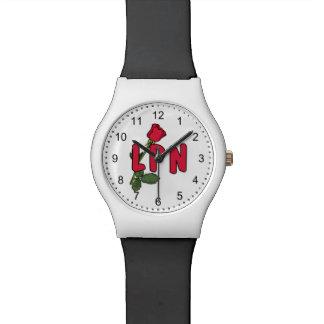 LPN Nurse Rose Wrist Watches