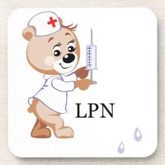 LPN Teddy Bear Beverage Coaster