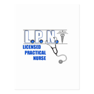 LPN with Stethescope Licensed Practical Nurse Postcard
