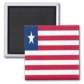 LR - Liberia - Flag Square Magnet
