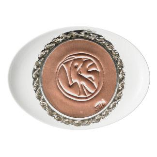 LRS Labyrinth Readers Society Porcelain Platter