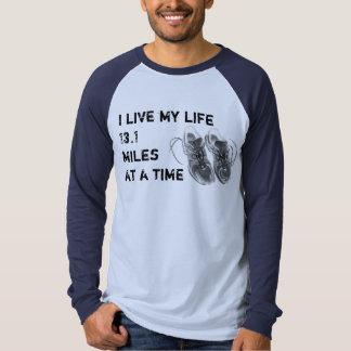 LS Raglan - I live my life 13.1 miles at a time Tee Shirt