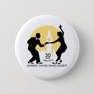 LSDS 30 Years Anniversary Lindy Hop Badge 2 Inch Round Button