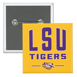 LSU Tigers   Louisiana State 4 2 Inch Square Button