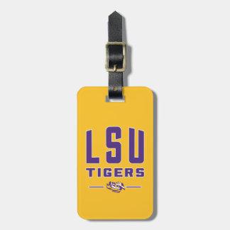 LSU Tigers   Louisiana State 4 Luggage Tag