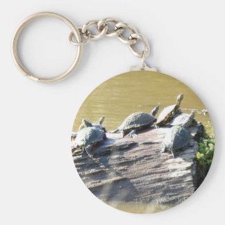 LSU Turtles.JPG Basic Round Button Keychain