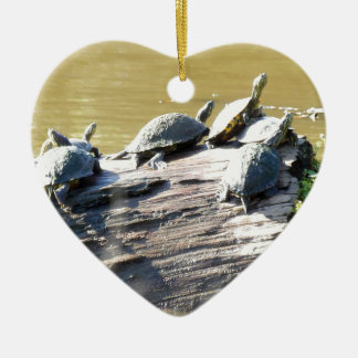 LSU Turtles.JPG Ceramic Heart Ornament