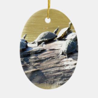 LSU Turtles.JPG Ceramic Oval Ornament