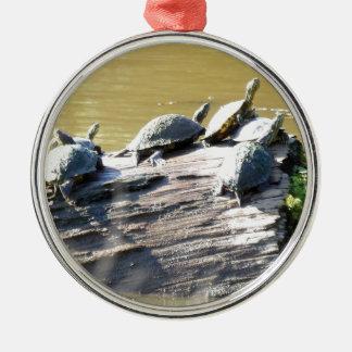 LSU Turtles.JPG Silver-Colored Round Ornament