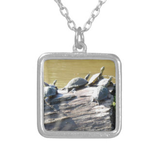 LSU Turtles.JPG Silver Plated Necklace