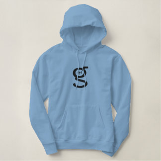 Lt Blue Pullover Hoodie w Large Logo
