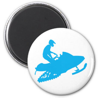 LT-Blue-Snowmobiler 2 Inch Round Magnet