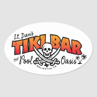 Lt. Dan's Tiki Bar & Pool Oasis Merchandise Oval Sticker