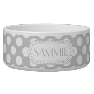 Lt Gray | White Polka Dots Pattern Monogram