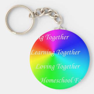 LT Homeschool Family Basic Round Button Keychain