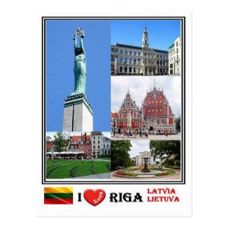 LT Latvia Lietuva - Riga - Postcard