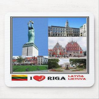 LT Lithuania - Latvia Lietuva - Riga - I Love - Mouse Pad