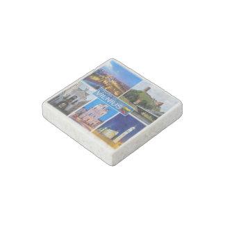 LT  Lithuania - Vilnius - Stone Magnets