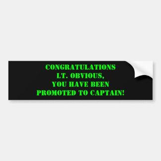 Lt Obvious de félicitations… Autocollant De Voiture