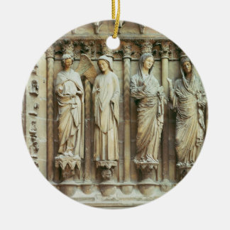 (LtoR) The Annunciation and the Visitation, right- Round Ceramic Ornament