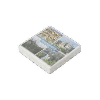 LU Luxembourg - Alzette - Vianden Castle - Stone Magnets
