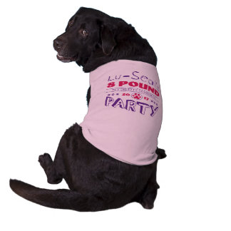 Lu-Seal's 8 Pound Party Dog T-Shirt (Pink)