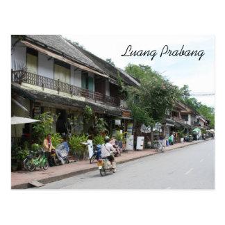 luang street postcard