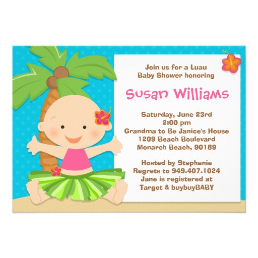 Luau Baby Shower Invitations could be nice ideas for your invitation template