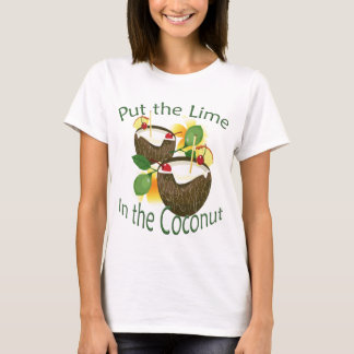 Luau Coconut Drink Lime Party Funny Ladies T-shirt