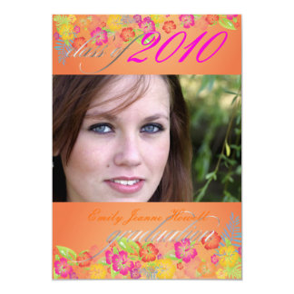 Luau Graduation Party Card
