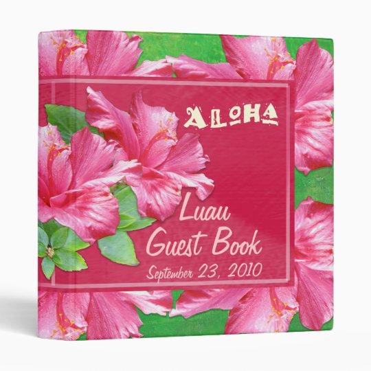 Luau Guest Book 1 Inch Binder