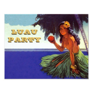 LUAU HULA DANCE PARTY INVITATION ~ SWEET SIXTEEN