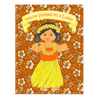Luau Invitation Cards ~ Hawaii Hula Party
