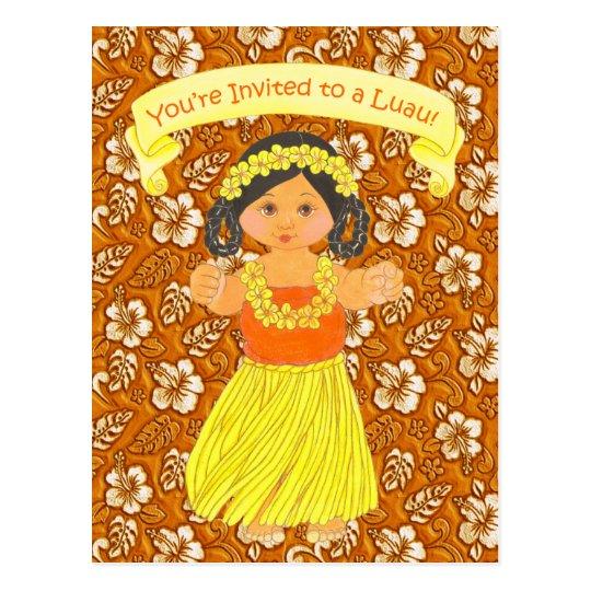 Luau Invitation Cards ~ Hawaii Hula Party