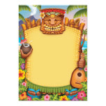 "Luau Invitations, Hawaiian Party Invitations 5"" X 7"" Invitation Card"