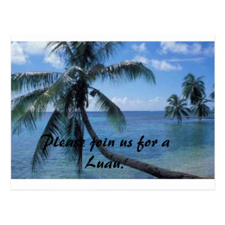 Luau invite postcard