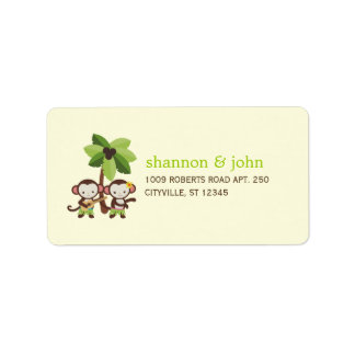 Luau Monkeys Couple Address Labels