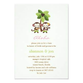 Luau Monkeys Engagement Party or Shower Invitation