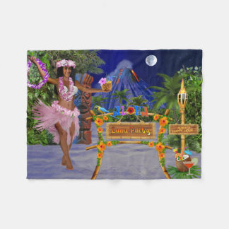 LUAU PARTY FLEECE BLANKET