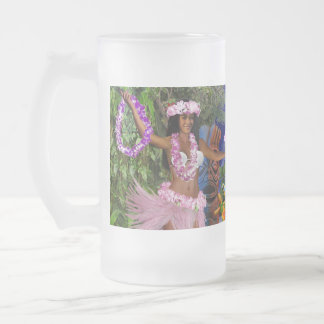 LUAU PARTY FROSTED GLASS BEER MUG