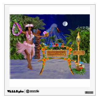 LUAU PARTY WALL DECAL