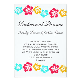 Luau Rehearsal Dinner Invitation