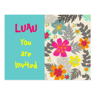 Luau Time party invitation postcard