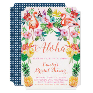 Luau Tropical Bridal Shower Invitation