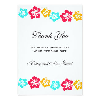 Luau Wedding Thank You Cards