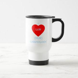 Lub Dub Heart I Love Cardiology Cardiologist Travel Mug