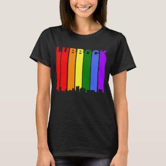 Lubbock Texas Gay Pride Rainbow Skyline T-Shirt
