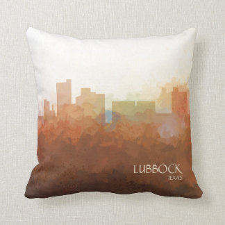 Lubbock, Texas Skyline-In the Clouds Throw Pillow