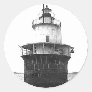 Lubec Channel Lighthouse Round Sticker