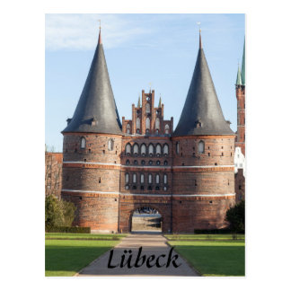 Lübeck Holstentor Gate photo Postcard